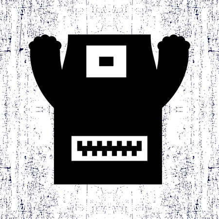 foots: Monster on grunge background