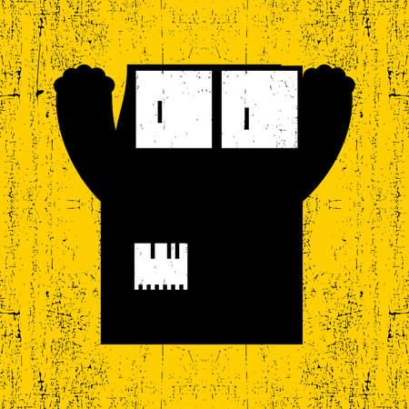 fiend: Monster on grunge background