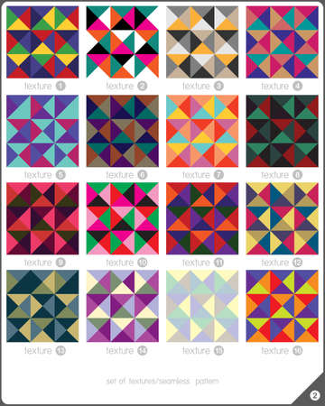 bussiness card: Set of 16 decorative seamless pattern. Element and geometric shapes. Vector illustration