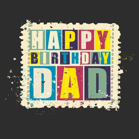 spesso Carta Regalo. Buon Compleanno Caro Papà Su Sfondo Arancione  MH24