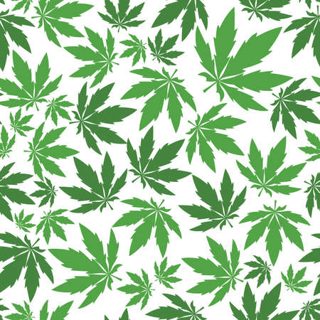 cannabis: Cannabis leafs - seamless pattern