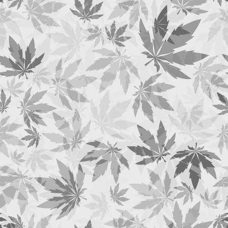 leafs: Cannabis leafs - seamless pattern