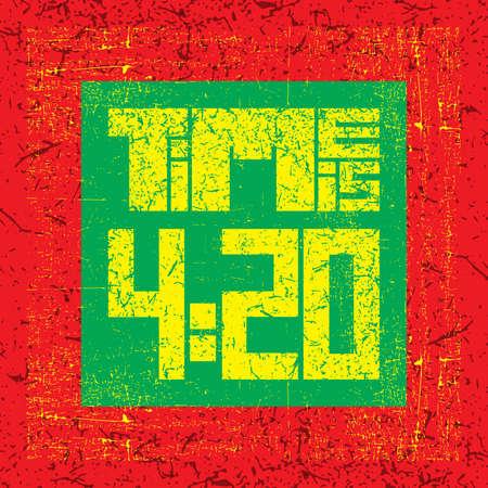 cannabis sativa: 420 time quote. Vector illustration