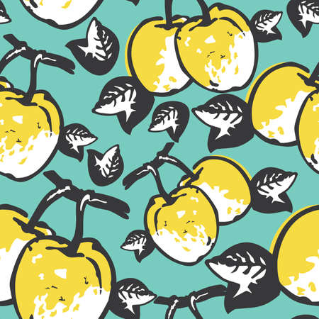 quince: Quince seamless pattern