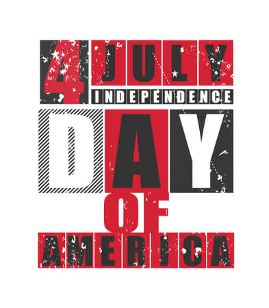 american history: Independence Day 4 July United States of America. Vector illustration