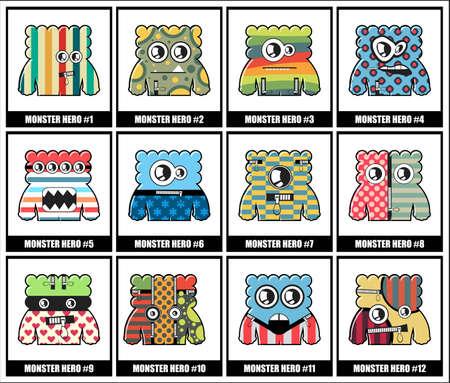 twelve: Set of twelve monsters