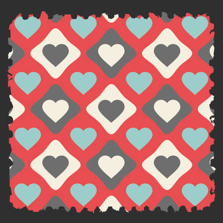 torn heart: a piece of torn paper with heart seamless pattern. vector illustration
