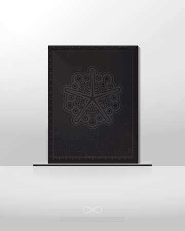 nirvana: Mystical space poster with geometrical shapes on white background, banner, magic illustration