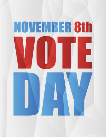 participation: November 8th, vote day in America, on polygonal background, geometric shapes, vector illustration