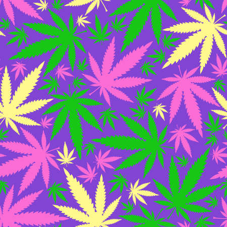 narcotics: Cannabis leafs - seamless pattern