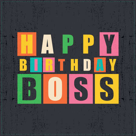 Enjoyable Happy Birthday Card Happy Birthday Boss Vector Illustration Personalised Birthday Cards Cominlily Jamesorg