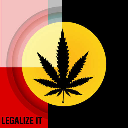 cannabis leaf: Cannabis leaf,  rastafarian background, vector illustration