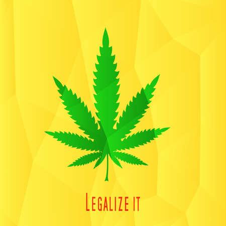 rastafarian: Cannabis leaf,  rastafarian background, vector illustration