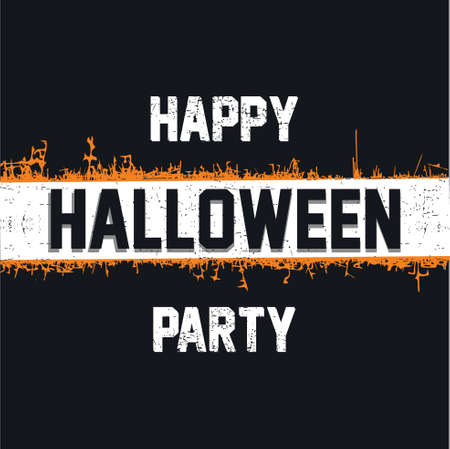 Happy Halloween invitation card, vector illustration with grunge background