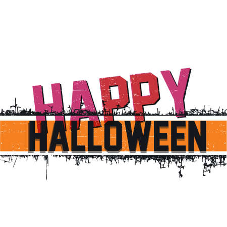 halloween invitation: Happy Halloween invitation card, vector illustration with grunge background