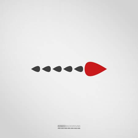 Arrow icon on grey background, Element for different kind of design. vector illustration. Illustration