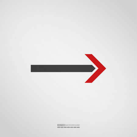 Arrow icon on grey background, Element for different kind of design. vector illustration.