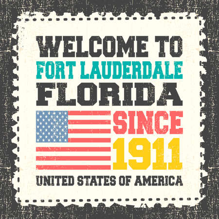 invitation card with text welcome to fort lauderdale state