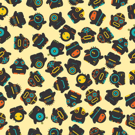 dude: Funny monsters - seamless pattern