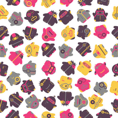 Funny monsters - seamless pattern