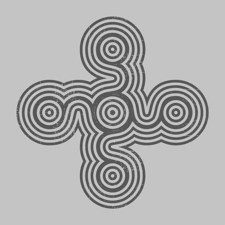 Black cross on grey grunge background, for different use. vector illustration.