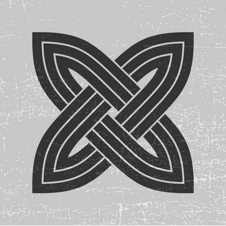 Black cross on grunge grey illustration. Illustration