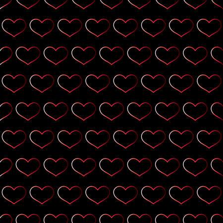 Teste padrão sem emenda do dia do `s do Valentim com corações vermelhos.