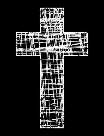 Cross on grunge