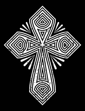 Cross on grunge
