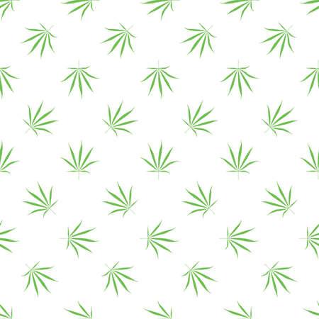 Marijuana leaves - seamless pattern