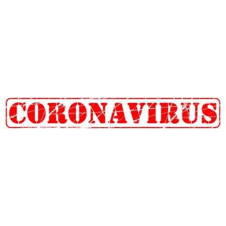 Positive Advertising Banner covid-19 disease caused by coronavirus. Viral pandemic worldwide. Stamp Effect