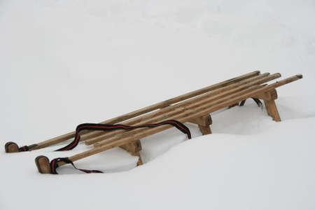 Sleigh In Snow photo