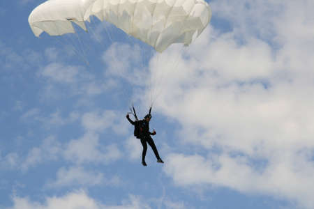 adrenaline: Skydiver Parachute Open, Sky, Adrenaline