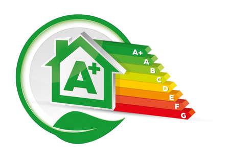 House energy class certification A Vektoros illusztráció