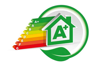House energy class certification Vetores