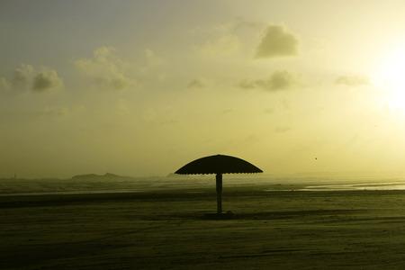 karachi: Empty and clean beach of Clifton, Karachi Pakistan during sunset