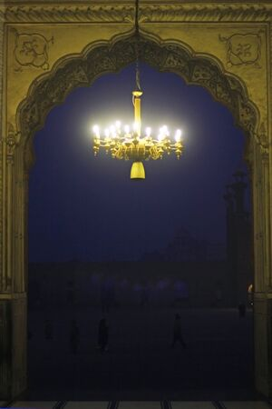 celebratory event: Antique Fanous in Badshahi Mosque, Lahore Pakistan