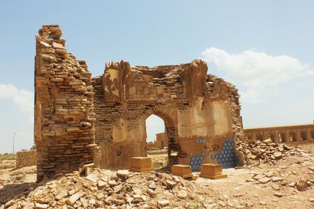 Demolished ancient building in makkli graveyard, thatta,sindh, Pakistan