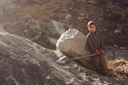 Child Labor - Little kid is working in swat valley, KPK, Pakistan 14/10/2015