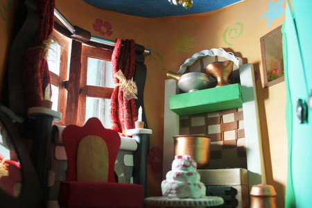 Beautiful Interior of a miniature doll house