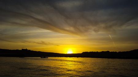 Beautiful sunset in the sea in gawadar, balochistan, pakistan, Foto de archivo - 121490957