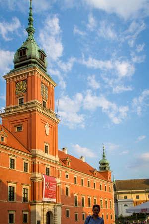 stare miasto: WARSAW, POLAND - JUNE 1: Royal Castle in Stare Miasto historic centre in Warsaw, Poland on June 1, 2015
