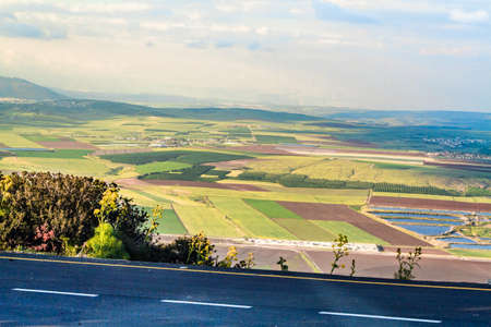 View over the Jezreel Valley from Mount Gilboa in northern Israel