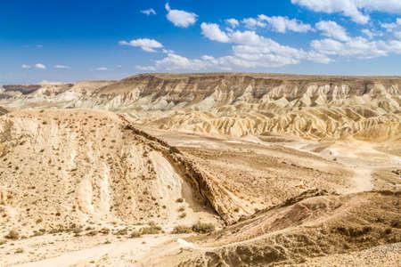 landform: Large Crater or Makhtesh Gadol - erosional landform of Negev desert, Israel