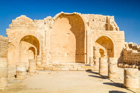 nabataean: Shivta - a Nabataean Town on the ancient spice route in the Negev Desert of Israel