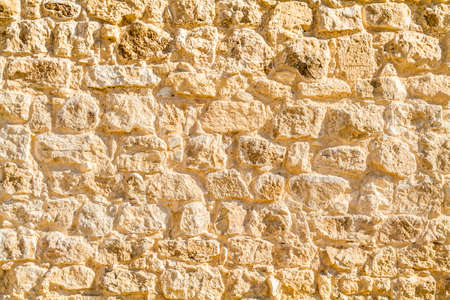 stonework: Ancient stonework, archaeological excavation, fragment of a wall in nabataean town Shivta, Israel