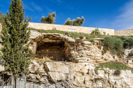 A view of the Gordon's Calvary and Skull Hill in Jerusalem, Israel