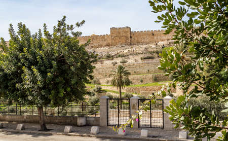 mercy: The Golden Gate or the Gate of Mercy in Old City Wall in Jerusalem, Israel