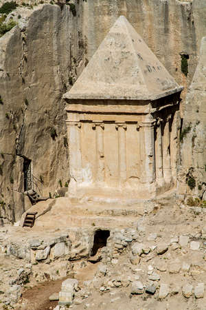 archeological: Kidron Valley or Kings Valley, Tomb of Zechariah near the Old City of Jerusalem