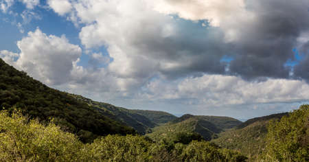 galilee: Mountain landscape, view of the mountainous area of Upper Galilee,Israel